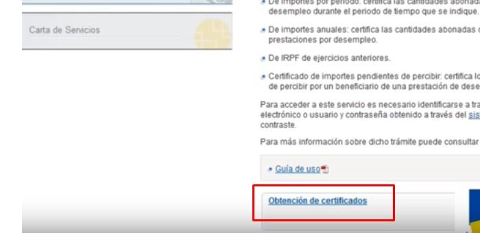 obtención de certificados