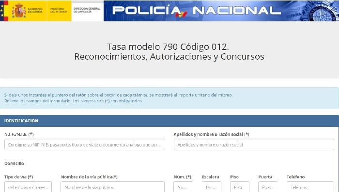 Tasa 790-012