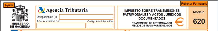 Agencia Tributaria - Modelo 620