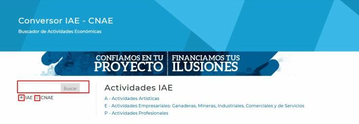 Conversor CNAE IAE