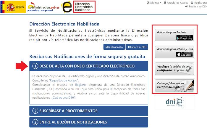 notificación dirigida Agencia Tributaria