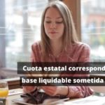 Cuota integra estatal correspondiente a la base liquidable general sometida a gravamen