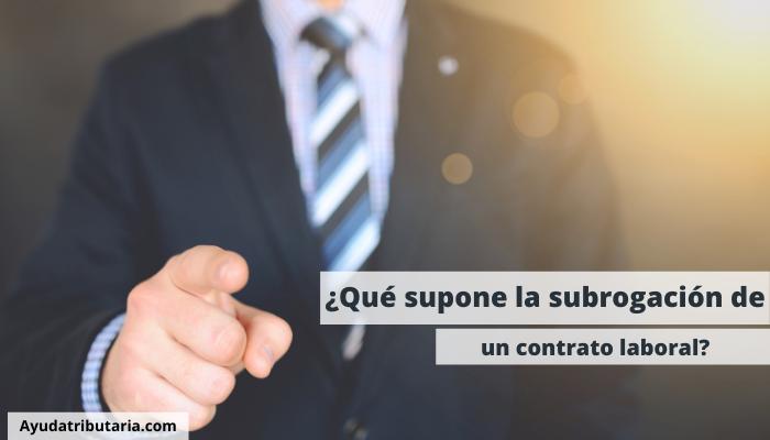 subrogación de un contrato